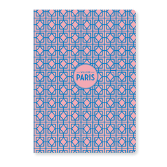 Pink patterns Paris Notebook