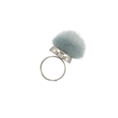Adjustable ring Houpette Blue grey - AnaGold