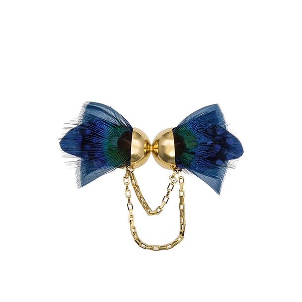 Blue butterfly brooch - AnaGold