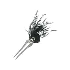 Black & white Crazy hair pick - Ana Gold