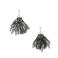 Black & white Crazy earrings - AnaGold