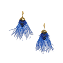 Bright blue Crazy earrings - AnaGold