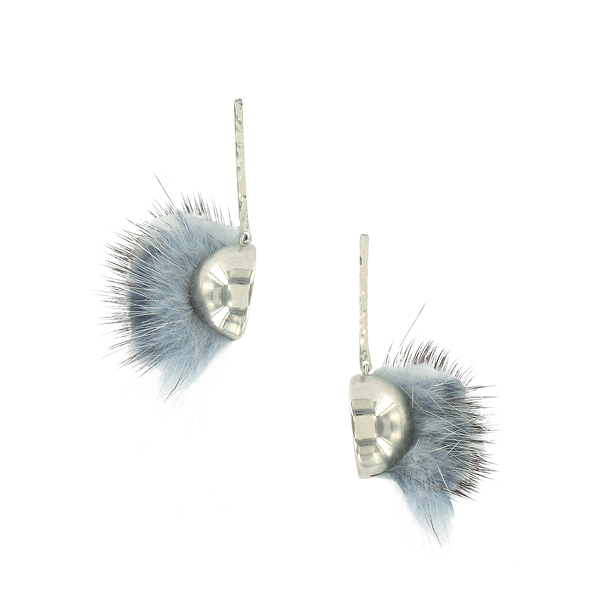 Blue-grey Iroquois earrings - AnaGold