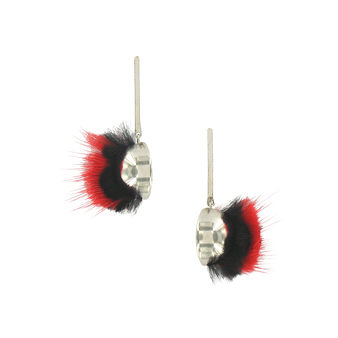 Red & black Iroquois earrings - AnaGold