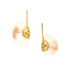 Beige & white Iroquois earrings - AnaGold