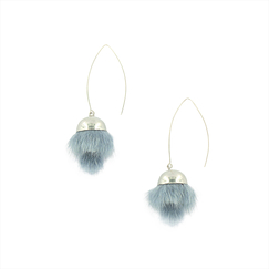 Blue-grey Tsarina earrings - AnaGold