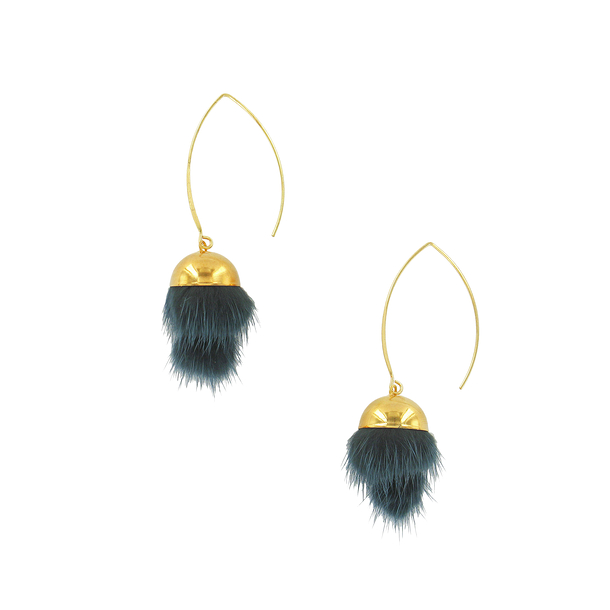 Dark petroleum Tsarina earrings - AnaGold