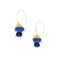 Bright blue Tsarina earrings - AnaGold