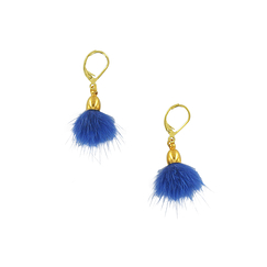 Bright blue pendant earrings - AnaGold