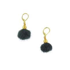 Dark petroleum Pampille earrings - AnaGold