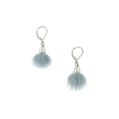 Blue-grey Pampille earrings - AnaGold