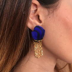 Blue & black Arty earrings - AnaGold