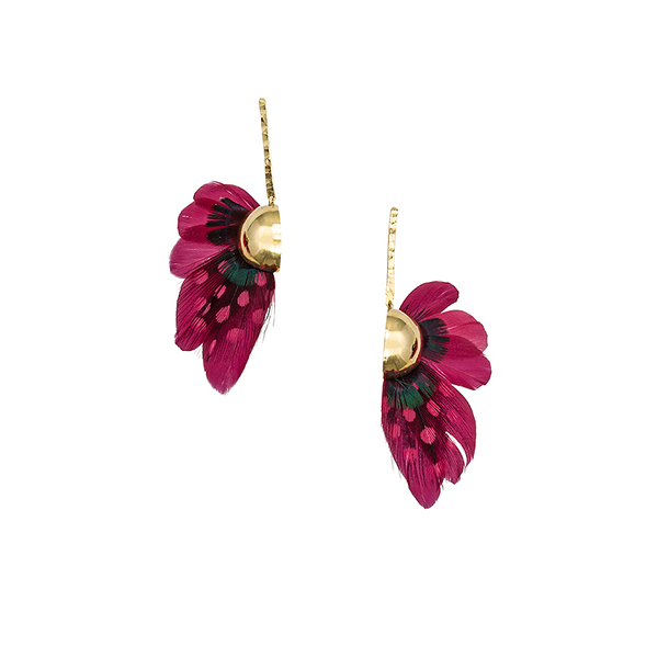 Red butterfly earrings - AnaGold