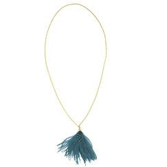 Green Pompom necklace - AnaGold