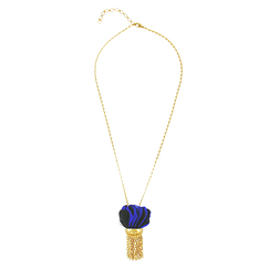 Arty blue black necklace - AnaGold