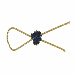 Blue & black Necklace/brooch Gardenia - AnaGold
