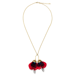 Necklace tinted ostrich feathers - AnaGold