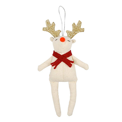 Red Scarf Reindeer Tree Decoration - Meri-Meri