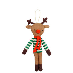Stripy Reindeer Christmas Decoration -Meri-Meri