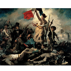 Poster Eugène Delacroix - Liberty Leading the People