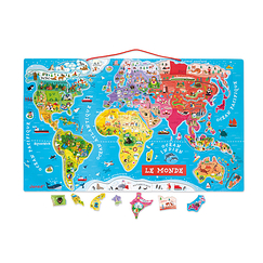 Puzzle 92 pieces - Magnetic World - Janod