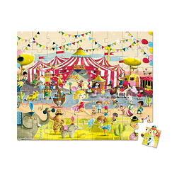 Hat Boxed Puzzle Circus 54 pieces - Janod
