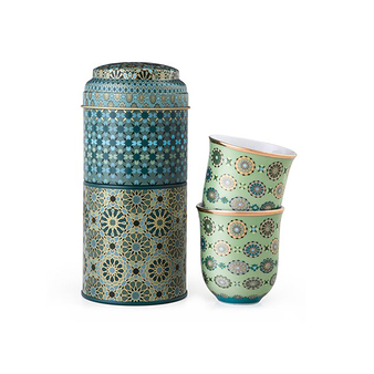 Tin Box With 2 Coffee Cups Andalusia