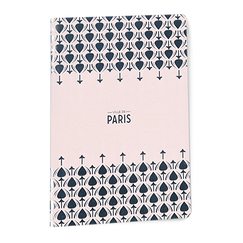 Silver patterns Paris Notebook