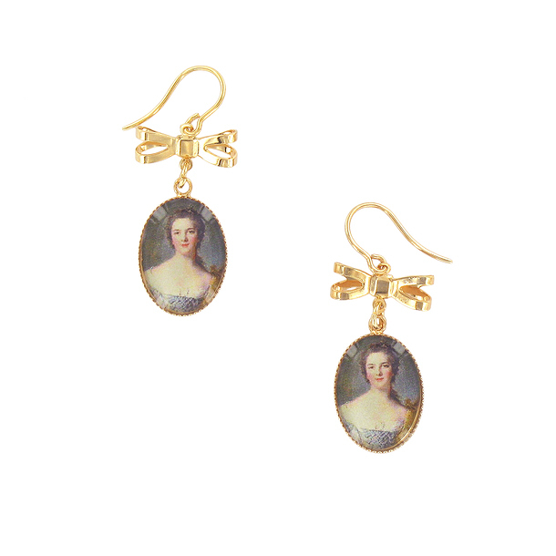 Portrait Madame Victoire Earrings - Ladies of the court