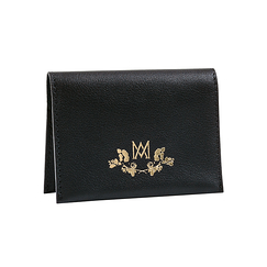 Double card holder Marie-Antoinette - Black - Ines de la Fressange Paris