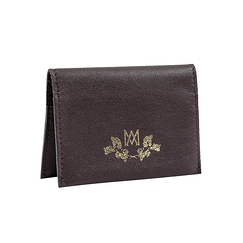 Double card holder Marie-Antoinette - Brown - Ines de la Fressange Paris