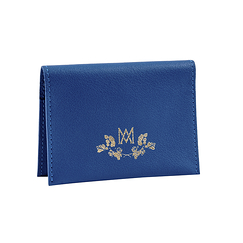 Double card holder Marie-Antoinette - Blue - Ines de la Fressange Paris