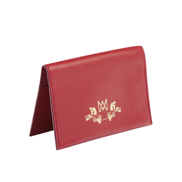 Double card holder Marie-Antoinette - Red - Ines de la Fressange Paris