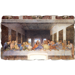 Fresco - Leonardo da Vinci - The Last Supper - Bottega tifernate