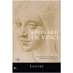 Exhibition poster Lenardo Da Vinci - Woman's head study