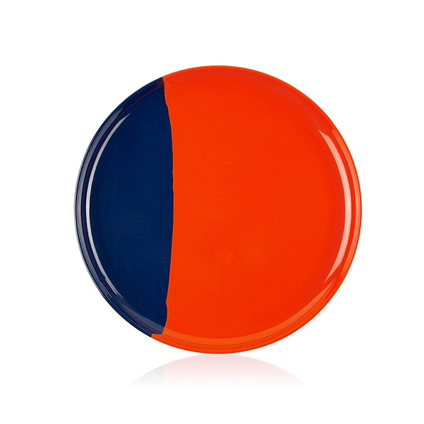 Melamine Dinner Plate orange / navy - Thomas Fuchs