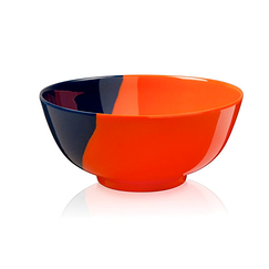 Melamine Bowl - orange / navy - Thomas Fuchs
