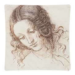 Cushion cover - Head of Leda - Leonardo da Vinci