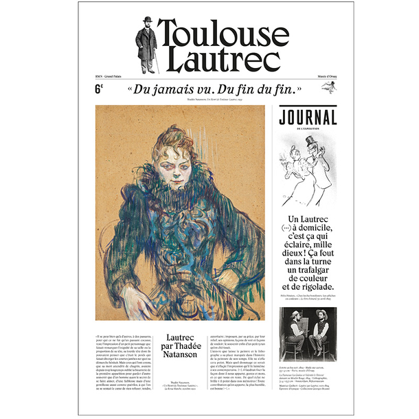 Toulouse-Lautrec - Exhibition Newspaper