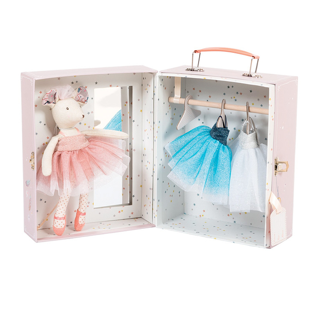 Dancing Mouse Suitcase - Moulin Roty