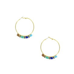 Creole earrings Egypt Mesh