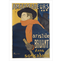 Poster Lautrec Aristide Bruant in his cabaret