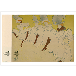 Poster Lautrec The troupe of Miss Eglantine
