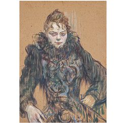Poster Lautrec Woman with black boa