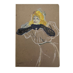 "Notebook -Toulouse Lautrec ""Yvette Guilbert"""