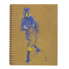 Spiral notebook - Jane Avril - Toulouse-Lautrec