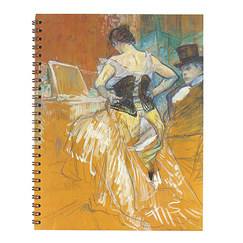 Spiral notebook - Passing Conquest - Toulouse-Lautrec
