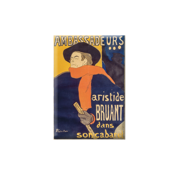 Magnet Lautrec Aristide Bruant in his cabaret