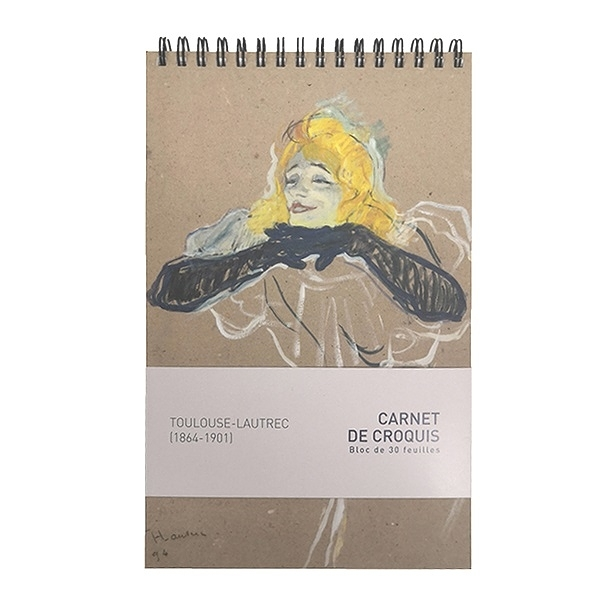 "Sketchbook -Toulouse-Lautrec ""Yvette Guilbert"""