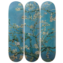 Skateboards Triptych Vincent van Gogh Almond Blossoms - The Skateroom